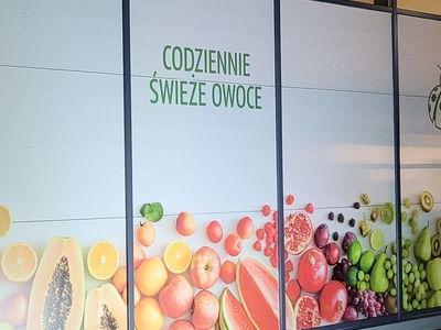 owoce i warzywa reklama naklejana